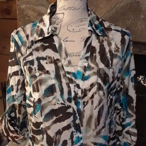 NWT Tommy Bahama cotton/silk top